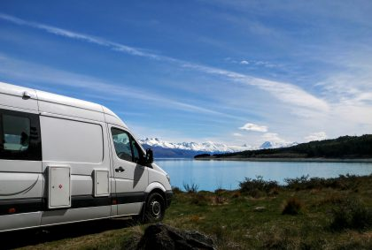 Camping on the shore of Lake Pukaki